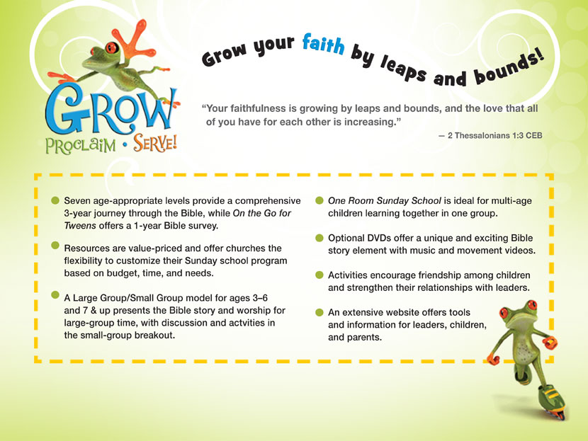 Learn more about Grow, Proclaim, Serve!